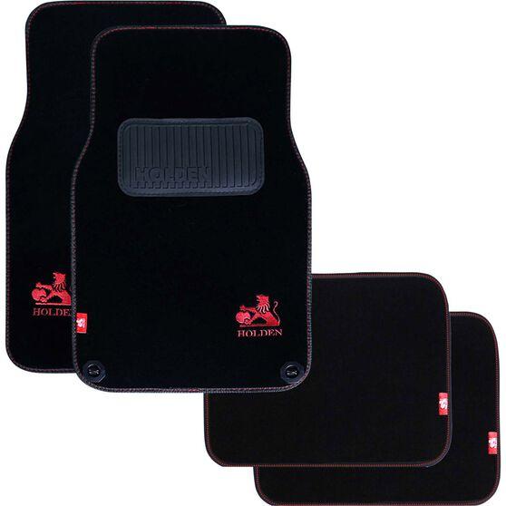Holden Car Floor Mats - Carpet, Black, Set of 4, , scaau_hi-res