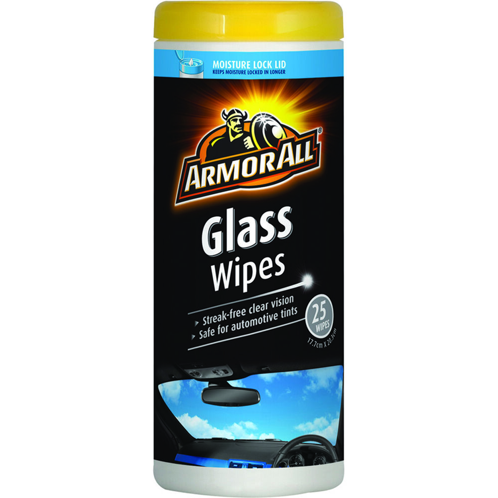 armor all glass cleaner wipes 25 pack supercheap auto. Black Bedroom Furniture Sets. Home Design Ideas