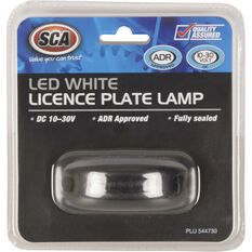 SCA Licence Plate Lamp - LED, White, 10-30V, , scaau_hi-res