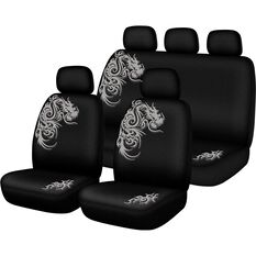 Seat Cover Pack - Grey, Built-in Headrests, Size 30 & 06H, Front & Rear Pack, Airbag Compatible, , scaau_hi-res