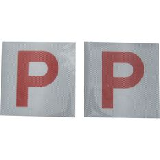 SCA P Plate - Clear Vision, Red, QLD, 2 Pack, , scaau_hi-res