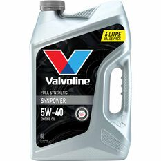 Valvoline Synpower Engine Oil 5W-40 6 Litre, , scaau_hi-res