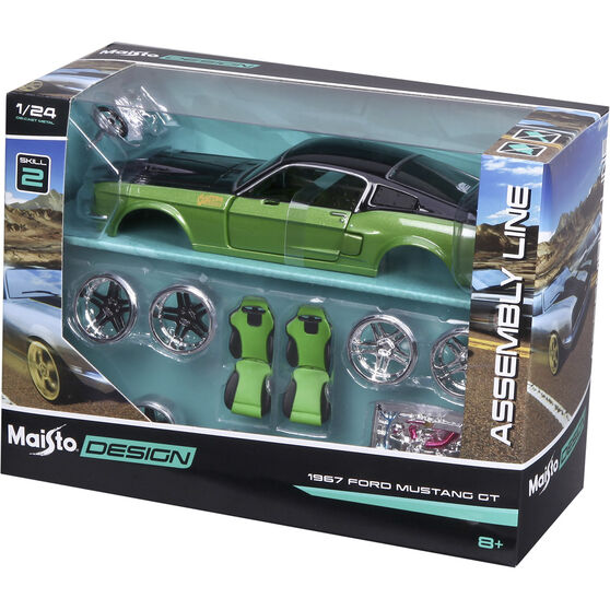 Die Cast, Assembly Ford Mustang GT 1967 - 1:24 scale model, , scaau_hi-res