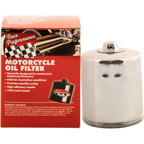 Race Performance Motorcycle Oil Filter RP170C, , scaau_hi-res