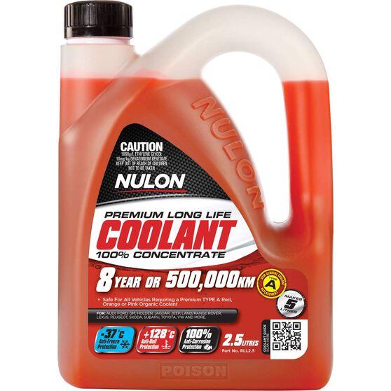 Nulon Red Long Life Anti-Freeze / Anti-Boil Concentrate Coolant - 2.5 Litre, , scaau_hi-res