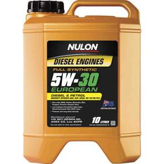 Nulon Full Synthetic European Diesel Engine Oil 5W-30 10 Litre, , scaau_hi-res