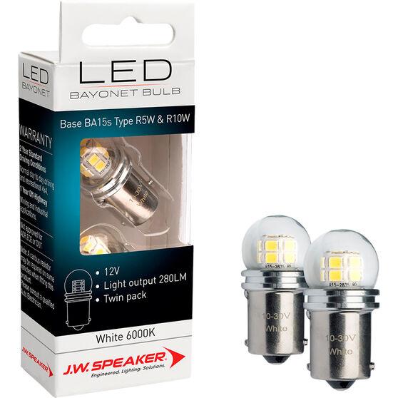 JW Speaker LED Globe - Bayonet, 12V, 6000K, BA15s, , scaau_hi-res