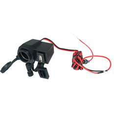 12V Twin Accessory - USB Socket, , scaau_hi-res