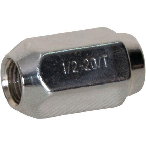 Calibre Wheel Nuts , Tapered, Chrome, For Ford Falcon BA-BF-FG - SN12FG, 1 / 2 inch, , scaau_hi-res