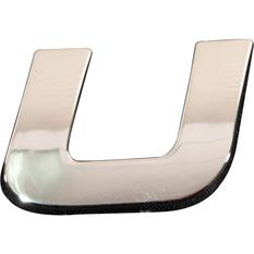 3D Chrome Badge - Letter U, , scaau_hi-res