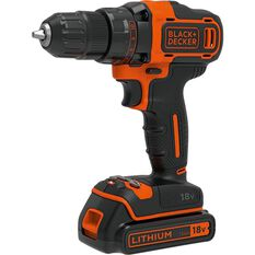 Black & Decker Cordless Drill 2 Speed Kit - 18V Li-Ion, , scaau_hi-res