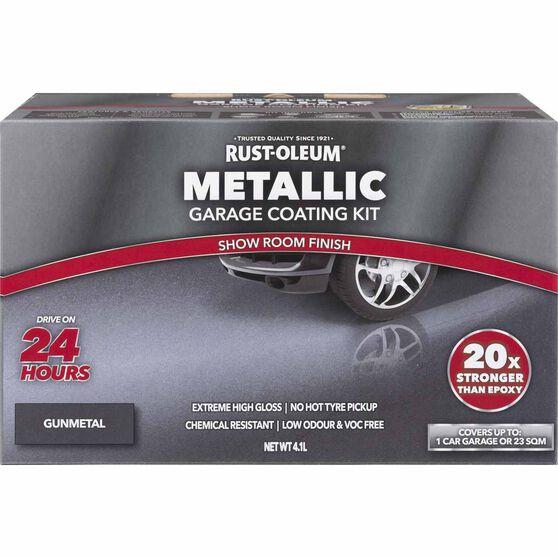 Rustoleum Metallic Gunmetal Floor Kit 1-Car Garage, , scaau_hi-res