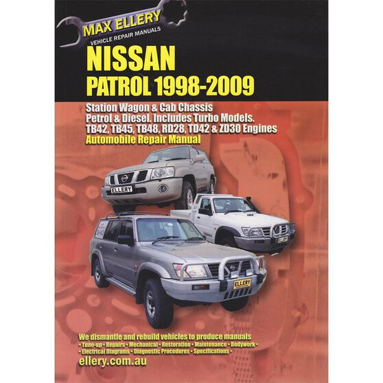 Ellery Car Manual For Nissan Patrol 1998-2009 - EP.N158, , scaau_hi-res