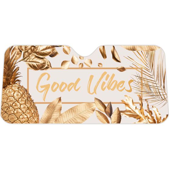 Good Vibes Sunshade -  Fashion, Accordion, Front, , scaau_hi-res