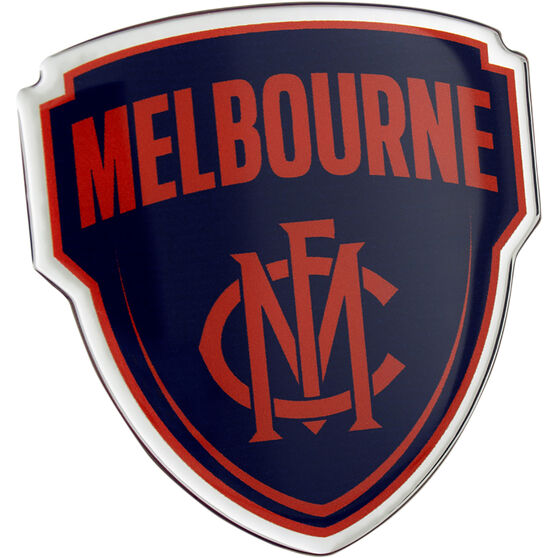 Melbourne AFL Supporter Logo - Lensed Chrome Finish, , scaau_hi-res