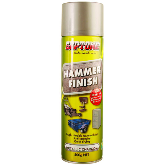 Septone Hammer Finish Paint Metallic Charcoal 400g, , scaau_hi-res