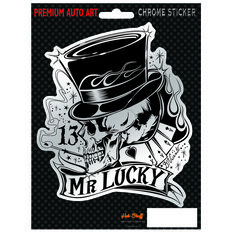 Hot Stuff Sticker - Mr Lucky, Chrome, , scaau_hi-res
