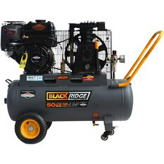 Blackridge Petrol Air Compressor Belt Drive 6.5HP 270LPM, , scaau_hi-res