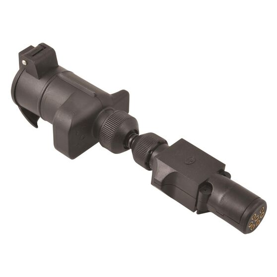 SCA Trailer Adaptor - 7 Pin Small Round Socket to 7 Pin Large Round Plug, , scaau_hi-res