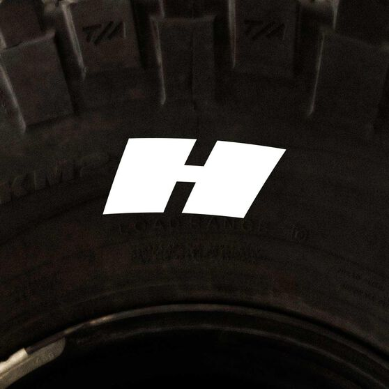 Tire Stickers - Letter H, , scaau_hi-res