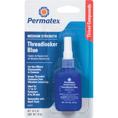 Permatex Threadlocker - Medium Strength, Blue, 10mL, , scaau_hi-res