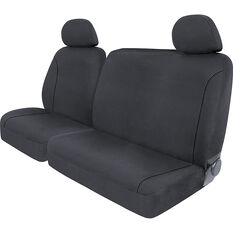 SCA Canvas Ute Seat Covers - Charcoal/Grey Size 301 Front Bucket and Bench (w/out cut out), , scaau_hi-res