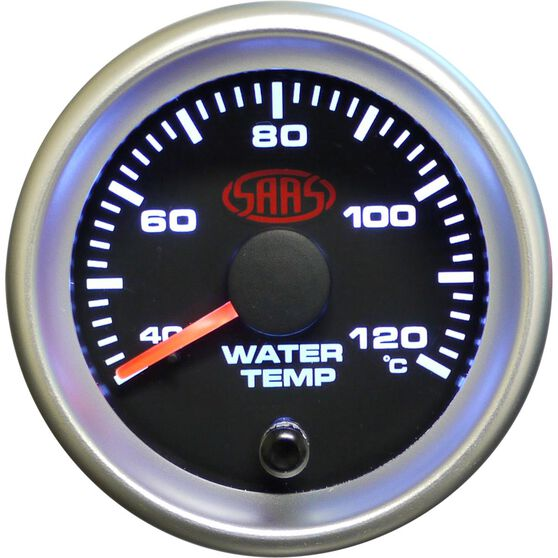 SAAS Water Temperature Gauge - Black, 52mm, , scaau_hi-res