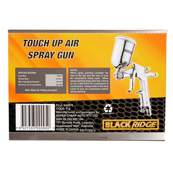 Blackridge Touch Up Air Spray Gun - 100mL, , scaau_hi-res
