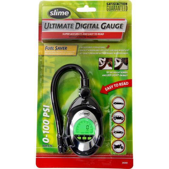 Slime Digital Deluxe Tyre Gauge - 0-100 PSI, , scaau_hi-res