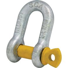 SCA D Shackle - Rated to 750kg, 8mm, , scaau_hi-res