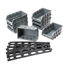 Parts Bin Tray Set - 8pce with rail, , scaau_hi-res