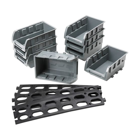 SCA Parts Bin Tray Set w / Rail - 165mm x 104mm x 76MM, 8 Pieces, , scaau_hi-res
