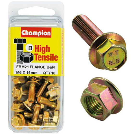 Flange Bolts - M6x16, High Tensile, , scaau_hi-res
