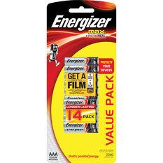 Energizer Max AAA Batteries - 14 Pack, , scaau_hi-res