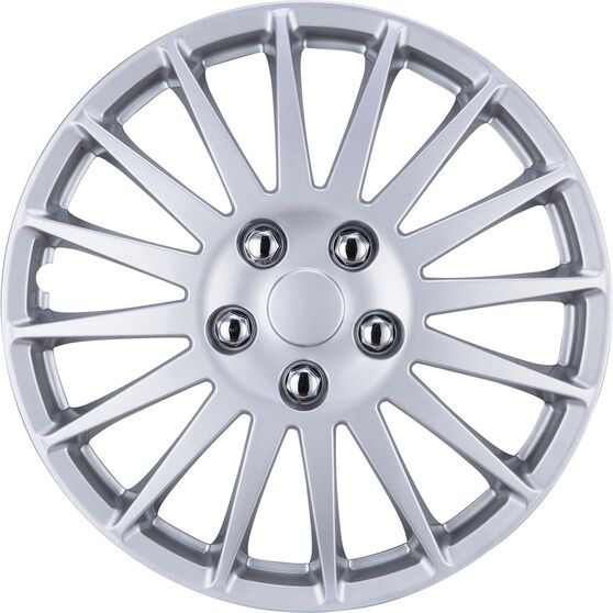 SCA Wheel Covers - Turbine, Silver, 14in, Set of 4, , scaau_hi-res