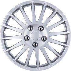SCA Wheel Covers - Turbine, Silver, 16in, Set of 4, , scaau_hi-res