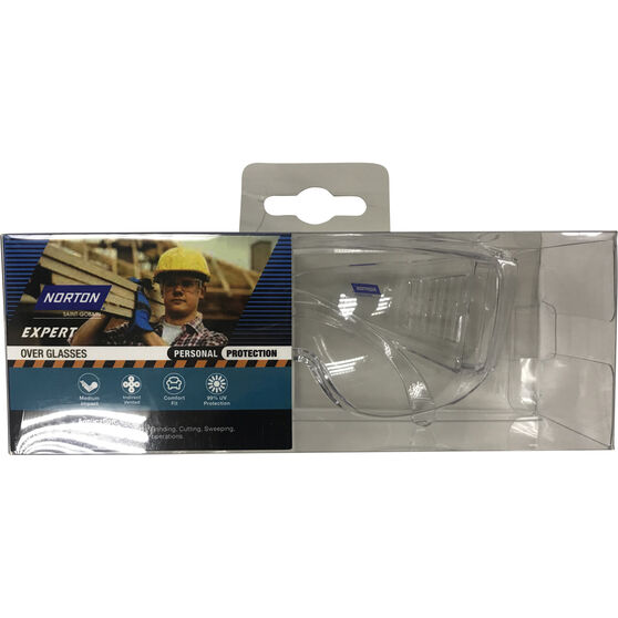 Norton Safety Glasse Fit Overs - Clear, , scaau_hi-res
