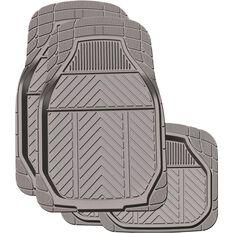 Ridge Ryder Deep Dish Car Floor Mats - Rubber, Charcoal, Set of 4, , scaau_hi-res