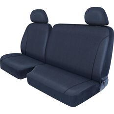 SCA Canvas Ute Seat Covers - Charcoal/Grey Size 401 Front Bucket and Bench (with cut out), , scaau_hi-res