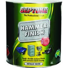 Paint - Hammer Finish, Metallic Silver, 4 Litre, , scaau_hi-res