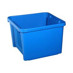 Plastic Storage Bin - Aqua, 30 Litre, , scaau_hi-res
