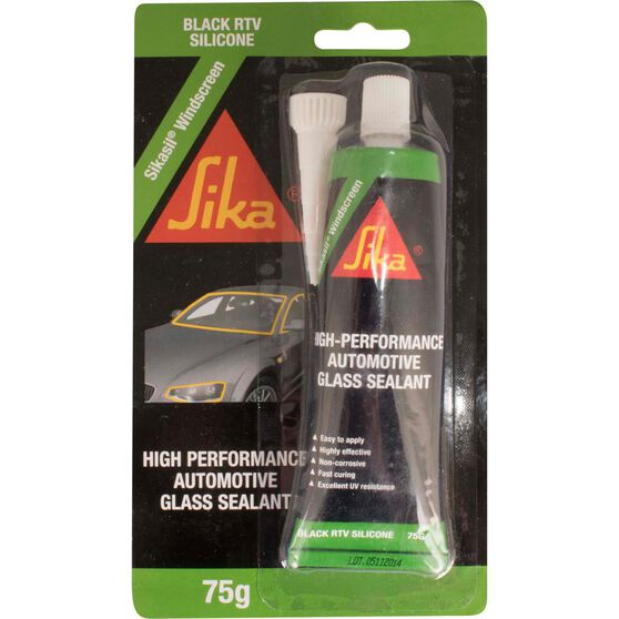 Sikasil Adhesive - Windscreen Sealant, Black, 75g, , scaau_hi-res