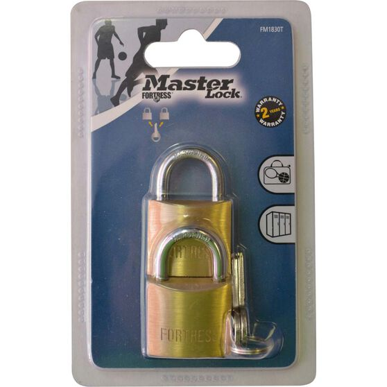 Master Lock Fortress Padlock - 30mm, 2 Pack, , scaau_hi-res