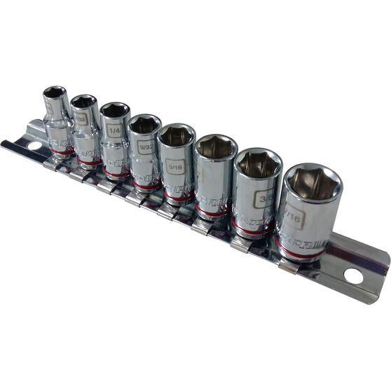 "ToolPRO Socket Rail Set 1/4"" Drive SAE 8 Piece, , scaau_hi-res"
