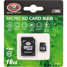 SCA 16GB Micro SD Card Class 10 with Adaptor, , scaau_hi-res
