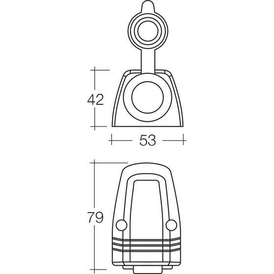 12/24V Accessory Socket - Heavy Duty, 20 Amp, Surface Mount, , scaau_hi-res