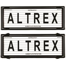 Altrex Number Plate Protector - 6 Figure, Sliver, With Lines, 6LS, , scaau_hi-res