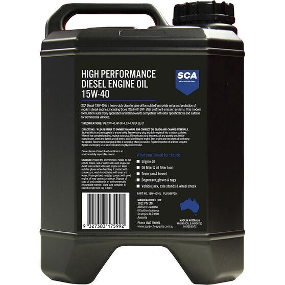 SCA High Performance Diesel Engine Oil 15W-40 10 Litre, , scaau_hi-res