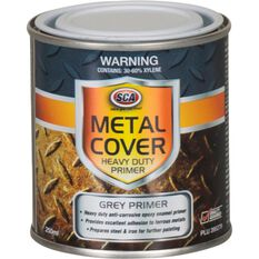 SCA Metal Cover Rust Paint - Enamel, Heavy Duty Grey Primer, 250mL, , scaau_hi-res