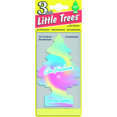 Little Trees Air Freshener - Cotton Candy, 3 Pack, , scaau_hi-res